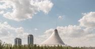 The shopping center built in the shape marquee. Khan Shatyr, Astana, Kazakhstan Stock Footage
