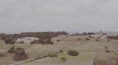Aerial of van moving on highway Stock Footage