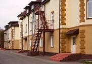 New houses facades Stock Photos