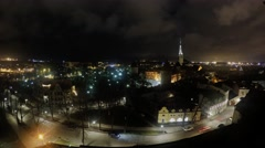 Time lapse of Tallinn old town from Patkul lookout Stock Footage
