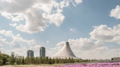 The shopping center built in the shape marquee. Zoom. Khan Shatyr, Astana, Stock Footage