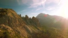 Flying in the amazing Dolomites in Italy Stock Footage