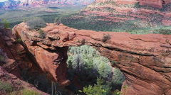 Devils Bridge Red Rock Formation- Sedona Arizona Stock Footage