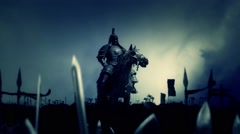 Genghis Khan with His Army Before or After a Battle Stock Footage