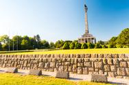 Slavin - memorial monument and cemetery for Soviet Army soldiers Stock Photos