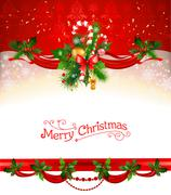 Holiday Christmas background Stock Illustration
