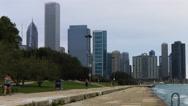 4K UltraHD Timelapse Chicago Skyline near harbor Stock Footage