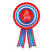 July fourth badge Stock Illustration