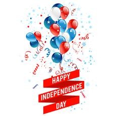 July fourth balloons Stock Illustration