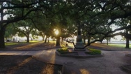 4k Aerial of Battery Park In Charleston South Carolina at Sunrise Stock Footage