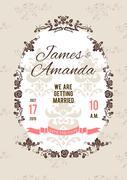 Wedding card Stock Illustration