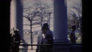 1947: dapper boys visiting museum with father taking photographs MIDDLETOWN Stock Footage