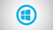 8k - Windows round logo symbol Stock Footage