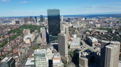 Aerial view of the City of Boston Arkistovideo