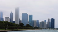 4K UltraHD Timelapse Chicago city center in mist Stock Footage