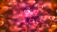 HD Loopable Background with nice pink flying hearts Stock Footage