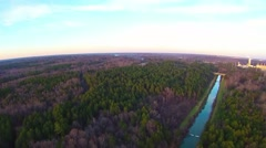 Aerial sunset view over lake wylie and catawba river Stock Footage