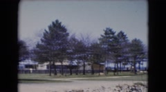 1947: structural designs and beauty of seaside MIDDLETOWN Stock Footage