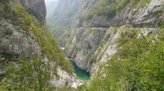The river's Canyon and mountain road Stock Footage