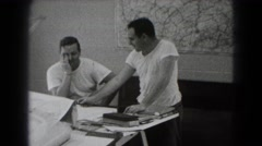 1947: men are working on architecture project MIDDLETOWN Stock Footage
