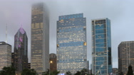 4K UltraHD Timelapse Chicago Skyline at twilight Stock Footage