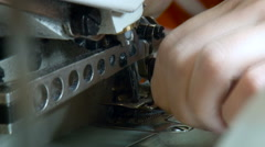 Clothing Factory. Sewing Machine. Professional Equipment.seamstress Cutting Stock Footage