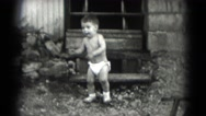 1947: toddlers is seen crawling MIDDLETOWN Stock Footage