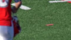 Men playing American football. Stock Footage