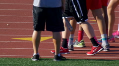 Details of track runners training. Stock Footage