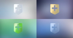 Medical Map Pin 3d Icon Stock Footage