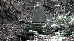 Old memorial stone Banjica Stock Footage