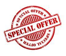 Special offer rubber stamp illustration Stock Illustration