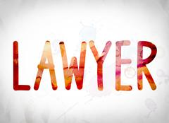 Lawyer Concept Watercolor Word Art Stock Illustration