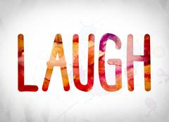 Laugh Concept Watercolor Word Art Stock Illustration