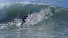 A surfer does a wipeout. Stock Footage