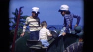 1947: little boy is having driving car with his siblings MIDDLETOWN Stock Footage