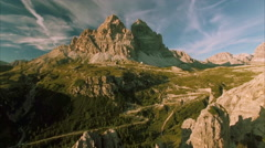 Dolomites mountain range in the Alps Stock Footage