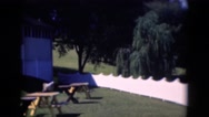 1947: picnic tables with banquet hall MIDDLETOWN Stock Footage