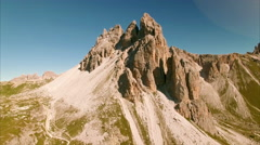 Flying in Dolomites, Italy Stock Footage