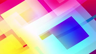 Slow motion of colourful shapes, background glassy and transparent shapes Stock Footage