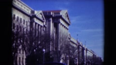 1947: city is seen with tall buildings along coastal area MIDDLETOWN Stock Footage