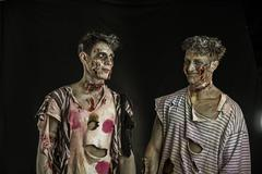 Two male zombies standing and smiling Kuvituskuvat