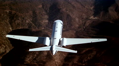 Cessna Citation CJ3 Air to Air Above Over Stock Footage
