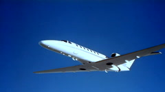 Cessna Citation CJ3 Air to Air Fly Under Stock Footage