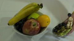 Fruits and Fruit Salat Stock Footage