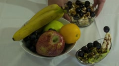 Fruits and fruits salat Stock Footage