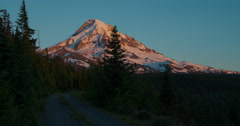 Time lapse of sunset on Mt. Hood, Oregon from the Northwest. Stock Footage