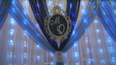 Wedding decoration. Name Letters of married couple Stock Footage