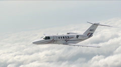 Cessna Citation CJ4 Air to Air Banking Left Stock Footage