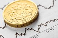 Pound coin the British currency Stock Photos